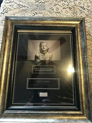 MARILYN MONROE Legend Authentic Hair Lock RARE Signed COA LOA