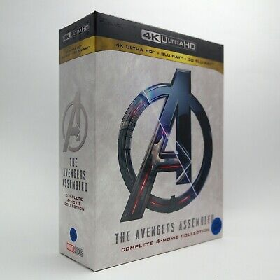 The Avengers Assembled - 4K + 3D + Blu-ray Complete 4-Movie Collection Box Set