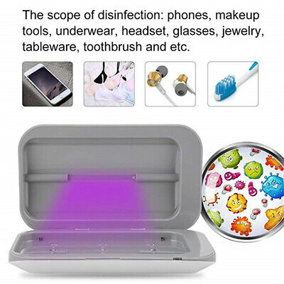 UV Ultraviolet Light Disinfection Box Nail Phone Jewelry Cleaning Sterilizer