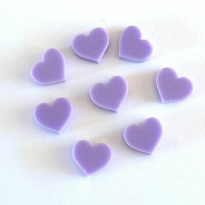 8 x Acrylic Laser Cut Shapes - hair clip, jewellery, scrapbooking, hearts