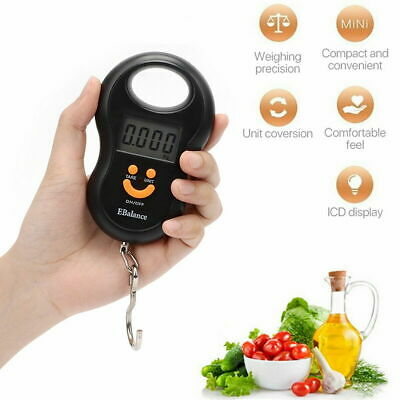 Digital LCD Luggage Scale 50kg Portable Hanging Weighing Travel Suitcase U8T2G