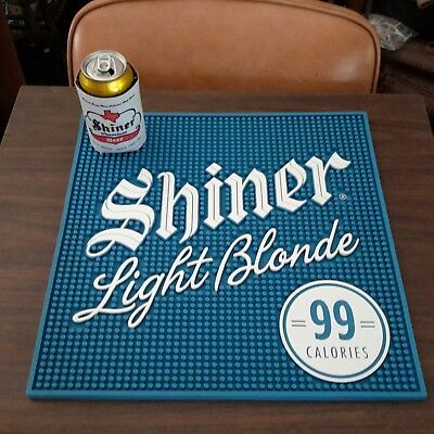 Shiner Light Blonde Beer 18 X 18 Barware  Rubber Mat Bock Brew Tap Ram Goat
