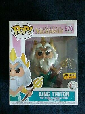 Funko Pop! Disney The Little Mermaid Hot Topic Exclusive 6 inch KING TRITON #570