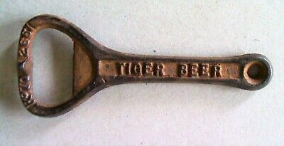 Vintage Mild Steel Bottle Opener Tiger Beer