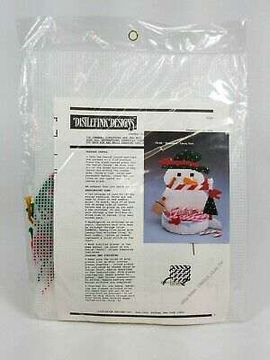 Distlefink Designs Plastic Canvas ~ Frosty Snowman Candy Cane Dish ~ 75105 ~ New