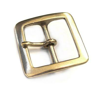 40mm Square Buckle Single Prong Solid Brass Made Leather Belt Smoky Sumi's Store