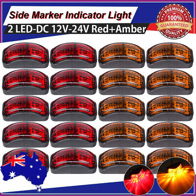 10X Amber 10X Red Led Clearance Lights Side Marker Lamp For Rv Trailer Truck Au