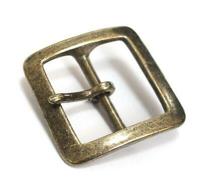 40mm Antique Gold Square Buckle Single Prong Solid Brass Belt Smoky Sumi's Store