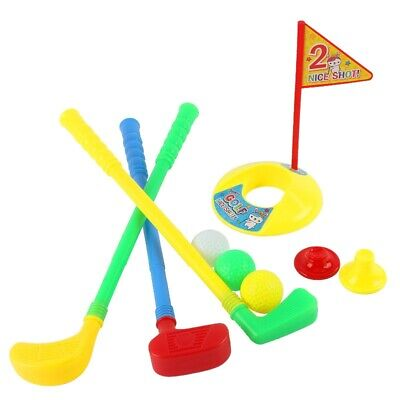 1 Set Practice Kids Golf Toy Set Golf Clubs Plastic Holes Tees Flag Exercise Toy