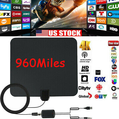 Antenna TV Digital HD 960 Mile Range Skywire TV Indoor 1080P 4K 16ft Coax Cable