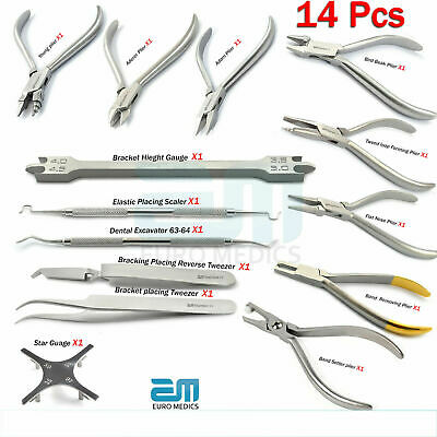 Orthodontic Periodontal Instruments Star Gauge Tweezers Young Aderer Adam Pliers