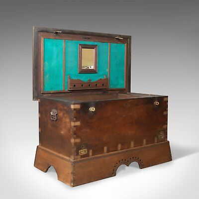 Antique Dowry Chest, Burmese, Teak, Trunk, 19th Century, Circa 1890