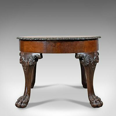 Antique Coffee Table, English, Victorian Side Table, Oak, Marquetry Circa 1870