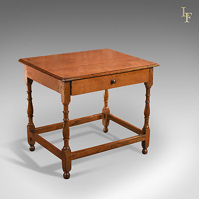 Antique Occasional Table, Victorian, Oak, English, Country, Hall, Side, c.1850