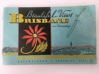 Beautiful Views of Brisbane & Surroundings QLD's Sunshine City Booklet 1940s