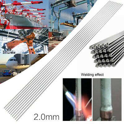 10Pcs 2mm*330mm Low Temperature Aluminum Welding Solder Wire Flux Rods Tool AU