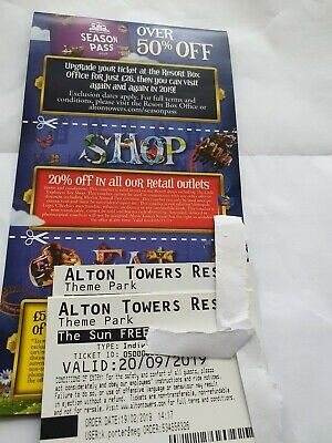 Alton towers tickets september 20th