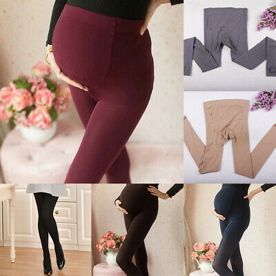 LN_ LN_ Pregnant Women Winter Thicken Tights Maternity Warm Footed Pantyhose