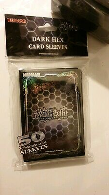YuGiOh Dark Hex Card Sleeves 50 Sleeves Official Yu-Gi-Oh! Protector