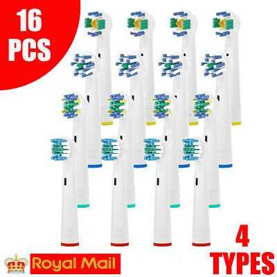 16Pcs Precision Electric Toothbrush Replacement Brush Heads For Oral B Braun UK