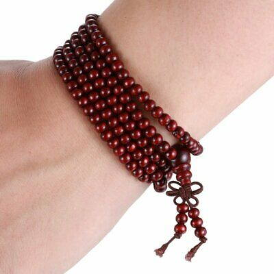 New Women Men Tibetan Buddhist Red Wooden Bracelet/Necklace Worry Beads Jewelry
