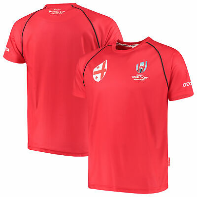 Fanatics Official Mens Rugby World Cup 2019 Georgia T-Shirt Tee Top