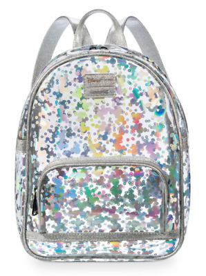 NWT - Disney Parks Mickey Mouse Magic Mirror Metallic Mini Backpack By Loungefly