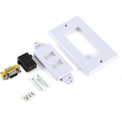 FT- BL_ Wall Multimedia Socket Face Plate for HDMI Female + 15Pin VGA Composite