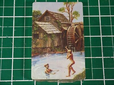 Sealed Vintage Hallmark Playing Cards Deck Boys Skinny-Dipping by the Old Mill