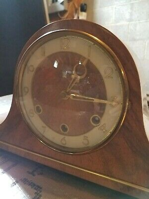 Antique vintage Nice Mantel Clock With Chime forestville works perfect mint cond
