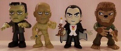Lot of 4 Funko Mystery Minis ~Universal Monsters~ Dracula~Mummy~Wolfman~ 1/6