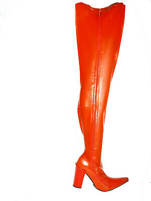 Latex 100% Promotion!! Stiefel rot 36-47 Fetisch Domina sexy Poland