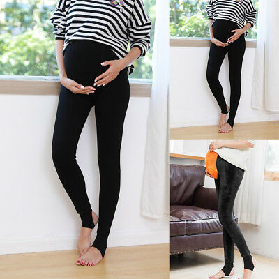 LN_ QA_ CN_ Pregnant Women Winter Tights Thicken Step On Foot Maternity Pantyh