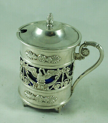 Antique French Silver Mustard Pot Paul Canaux & Ci BFZX001