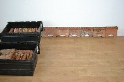 Victorian Terracotta Rope Topped Edging Tiles x 42