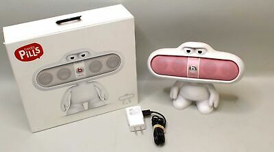 Beats By Dr Dre Pill Pink 1.0 W/ Oem Dude Stand Holder