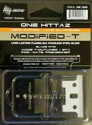 Andis T-Outliner One Hittaz 0 Gap Modified Black&Ceramic cutter 3X sharp blades