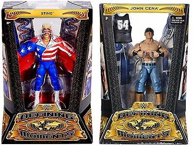WWE Defining Moments Elite Action Figures John Cena Sting Characters New 8+