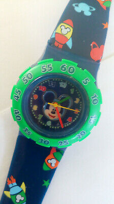 Unisex Disney Mickey Mouse Watch Seiko Movt New Battery Great Timekeeper