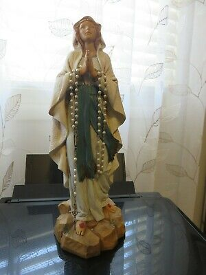 FONTANINI DEPOSE ITALY 882 1997  Our Lady of Lourdes with Rosary - Preowned