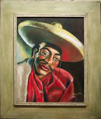 Gentle Mexican by Angus Ray original oil framed 1 owned by Jackie Kennedy