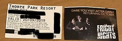 THORPE PARK TICKETS - 2 x Tickets for 20th September 2019