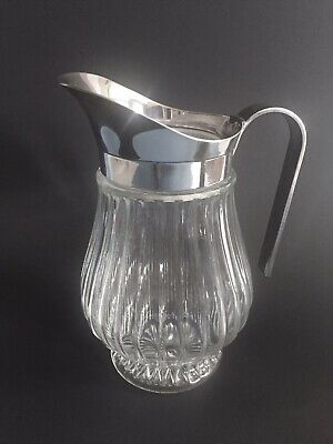 Vintage Italian Silver Plated Lead Crystal Pitcher