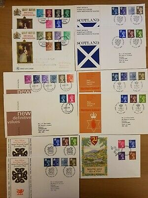 Great Britain Decimal Postage Stamps First Day Covers Queen Elizabeth