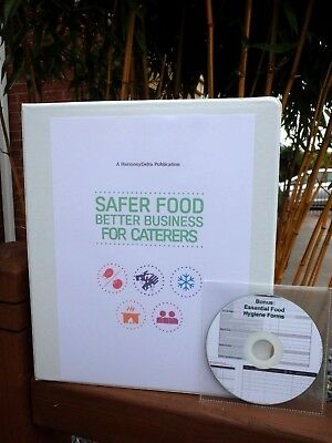 2019 Safer Food Better Business SFBB Caterers Pack & 18 Month Diary & CD & Sign