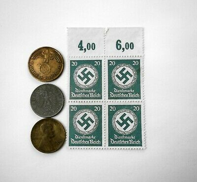 WW2 German Copper Coin Stamps Hitler Nazi Swastika Third Reich Elite Penny Money