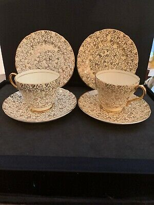 Vintage Rare Shelley  Pair Of Teacup And Saucer Set