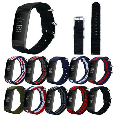 LN_ For Fitbit Charge 3 Bracelet Nylon Replacement Watch Band Wrist Strap Spar