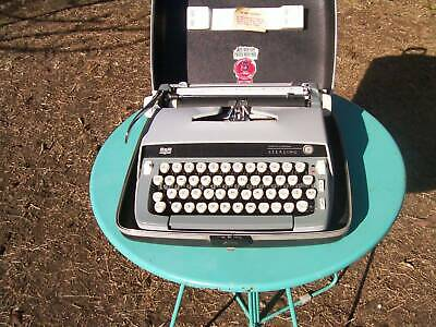 A very nice Smith Corona portable typewriter and carry case