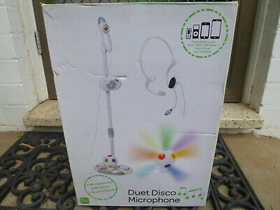 Duet Disco Karaoke Microphone-brand new- in box -FOR 3 YRS +-CAMDEN